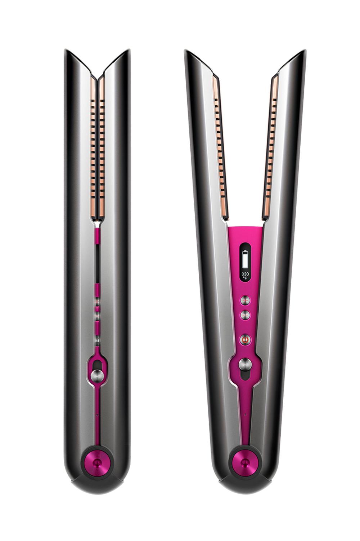 Dyson Corrale Hair Straightener Black Nickel Fuchsia In 2020 Hair Straighteners Flat Irons Hair Straightener Reviews Straightening Brush