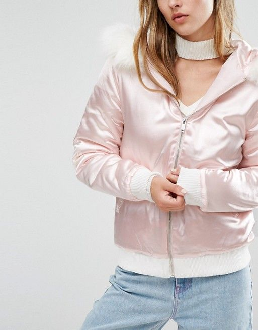 e2cfeb561 Galore Pink Patent Faux Leather Jacket Missguided bad and