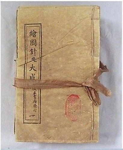 antique Chinese accordion fold book | Chinese Acupuncture Medical ...