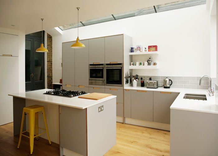 Formica birch ply kitchens and worktops by matt antrobus for Formica kitchen designs