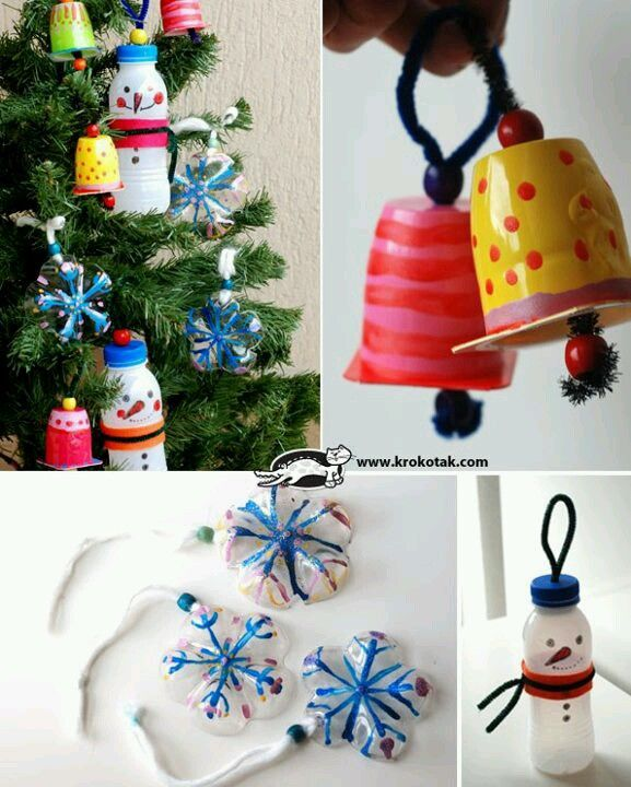 Recycled Christmas Ornaments Ideas.Recycle Reuse Decorate Like The Yoghurt Pot Bells