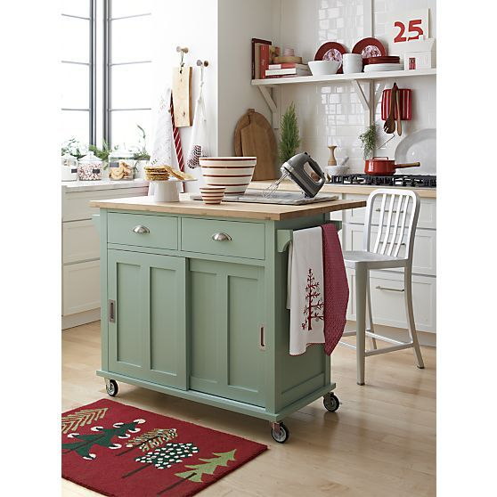 Belmont Mint Kitchen Island Reviews Crate And Barrel Mint Kitchen Kitchen Remodel Kitchen Design