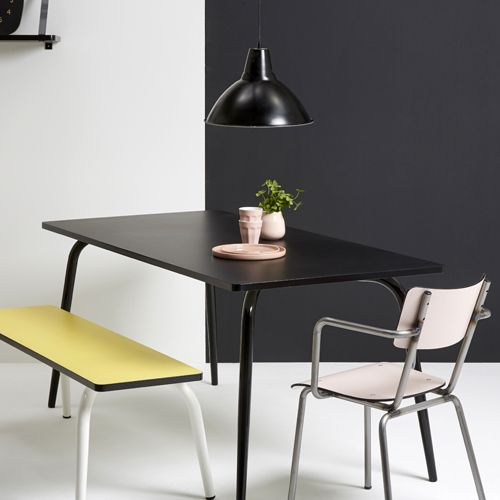 table manger en formica 120x70 vera les gambettes noir gambettes table et chaises. Black Bedroom Furniture Sets. Home Design Ideas