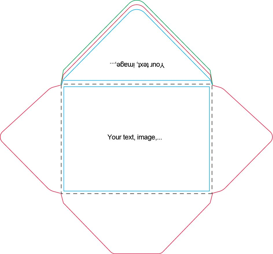 A7 Envelope Template Craft Ideas Envelopes