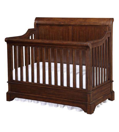 Bertini Pembrooke 4 In 1 Convertible Crib In Dark Walnut Crib