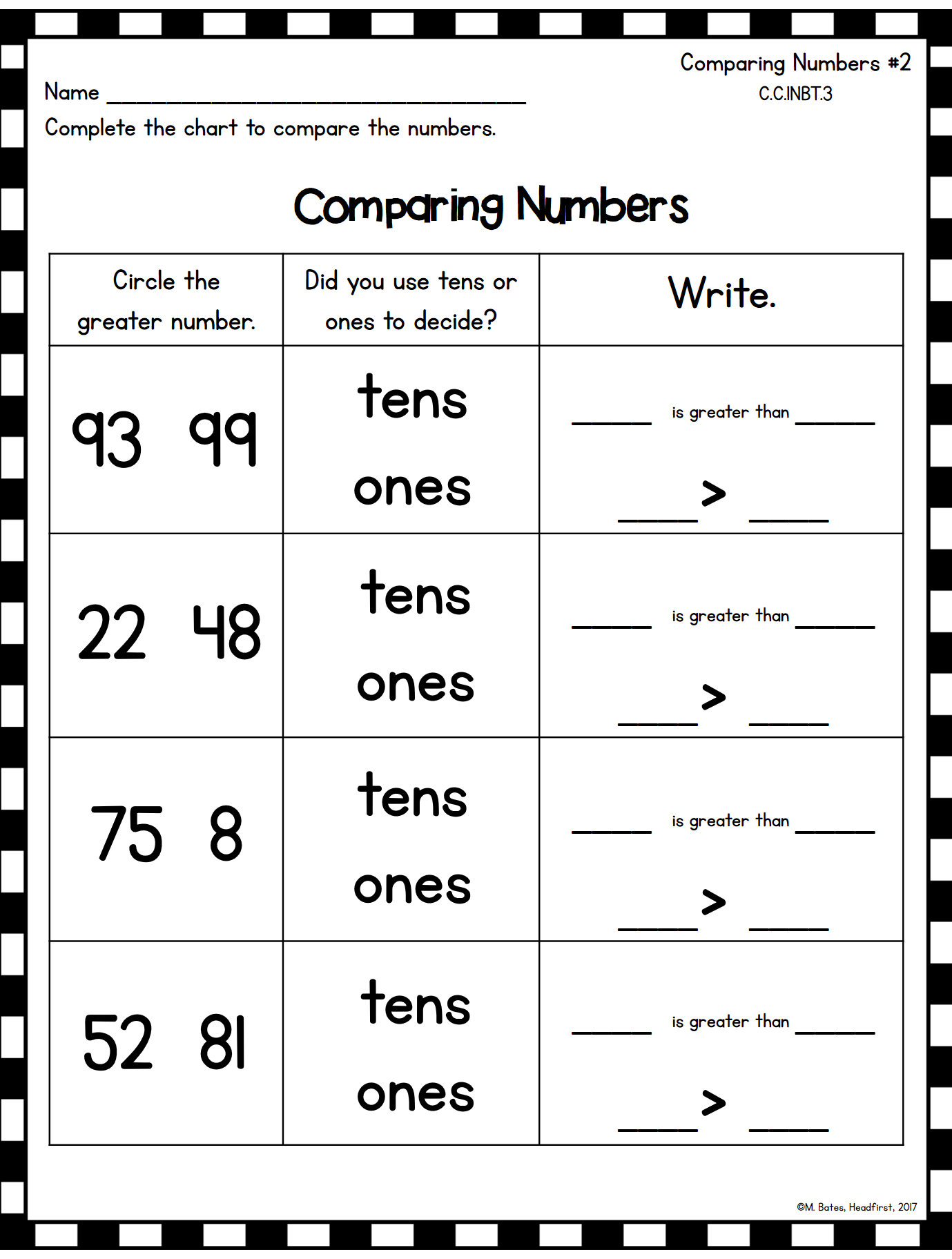 Addition And Subtraction Place Value Making 10 1st Grade
