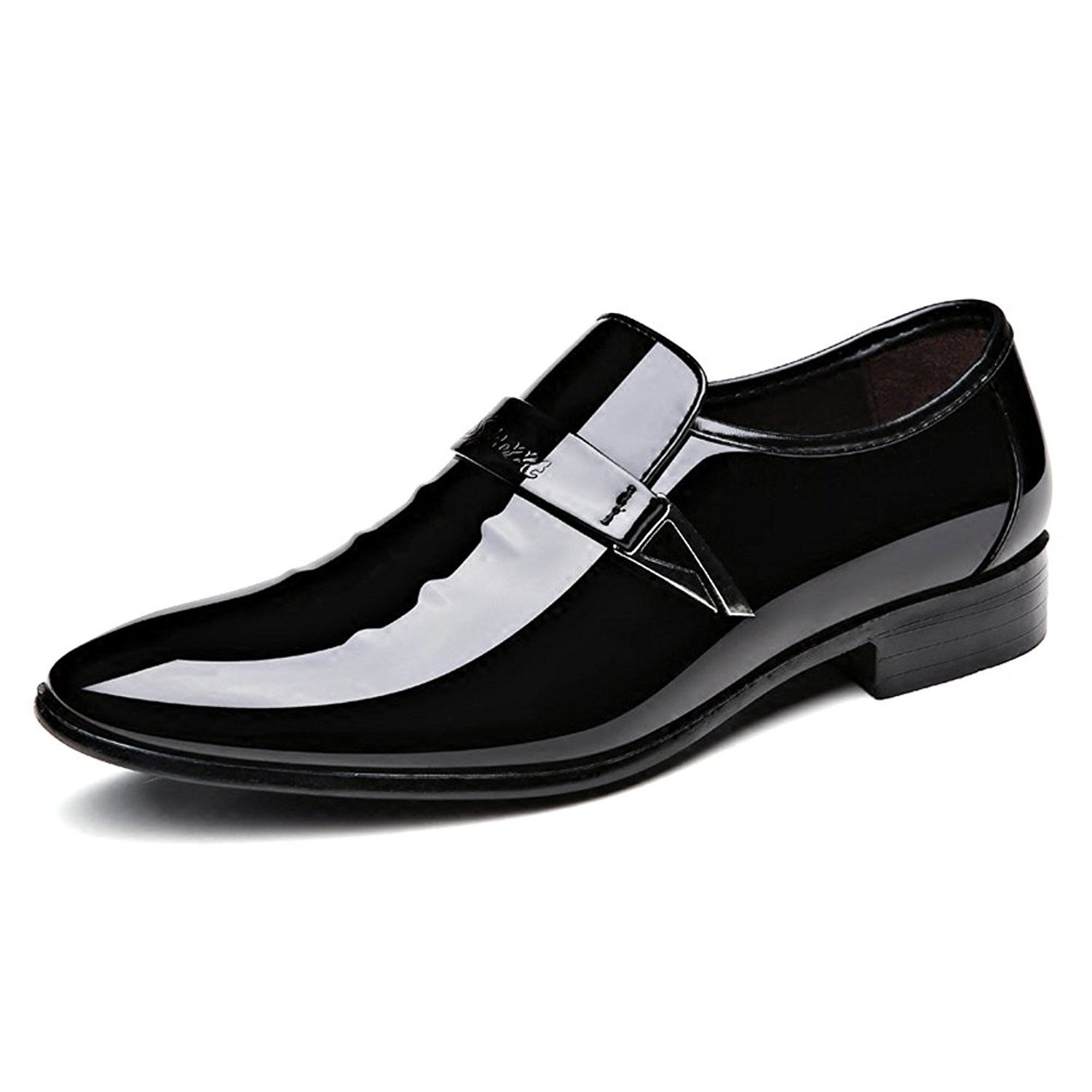 Men S Pointed Toe Tuxedo Dress Shoes Casual Slip On Loafer Black C81847rhe9q Tuxedo Shoes Loafers Black Casual Shoes [ 1500 x 1500 Pixel ]