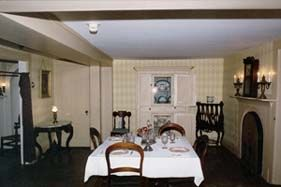 dining room in Orchard House where louisa lived with family.