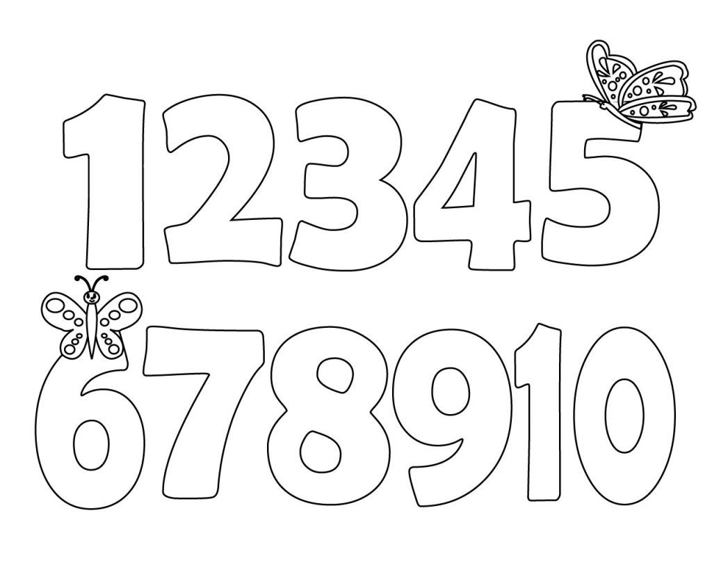 toddler coloring pages numbers easy