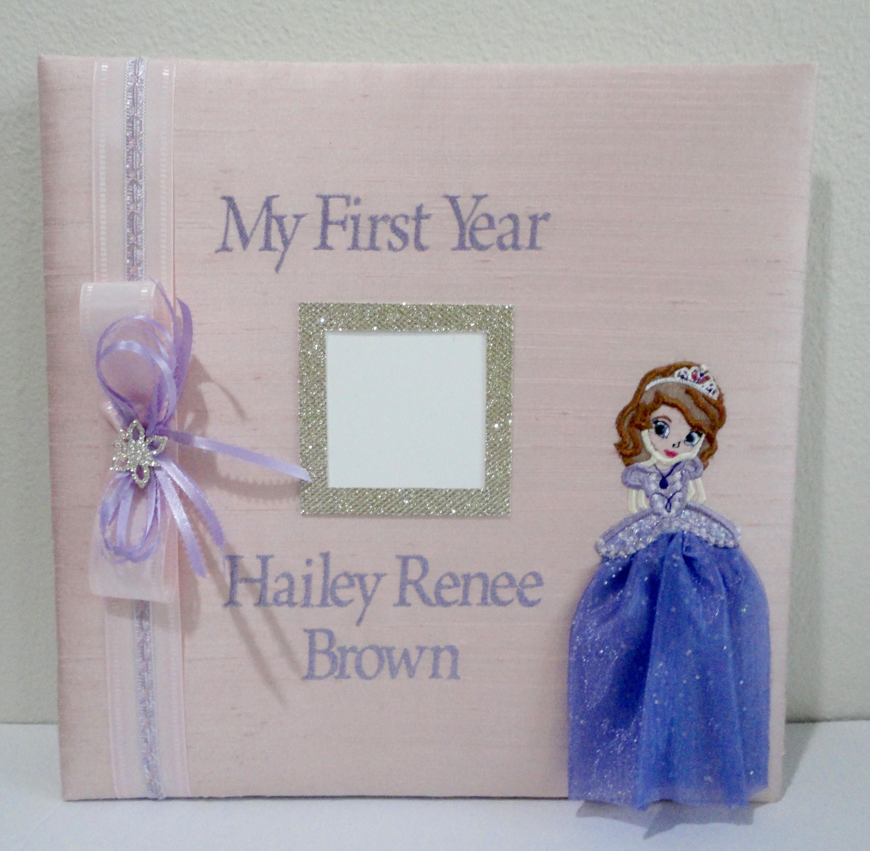 Personalized Babys First Year Photo Album Personalized Photo Album