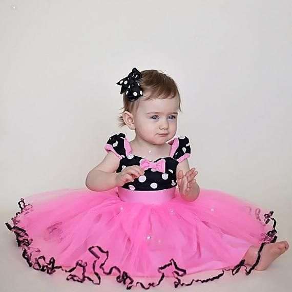 7bf26bff8 MINNIE MOUSE birthday outfit Minnie Mouse dress TUTU Minnie Mouse Party  Dress in Hot pink with b