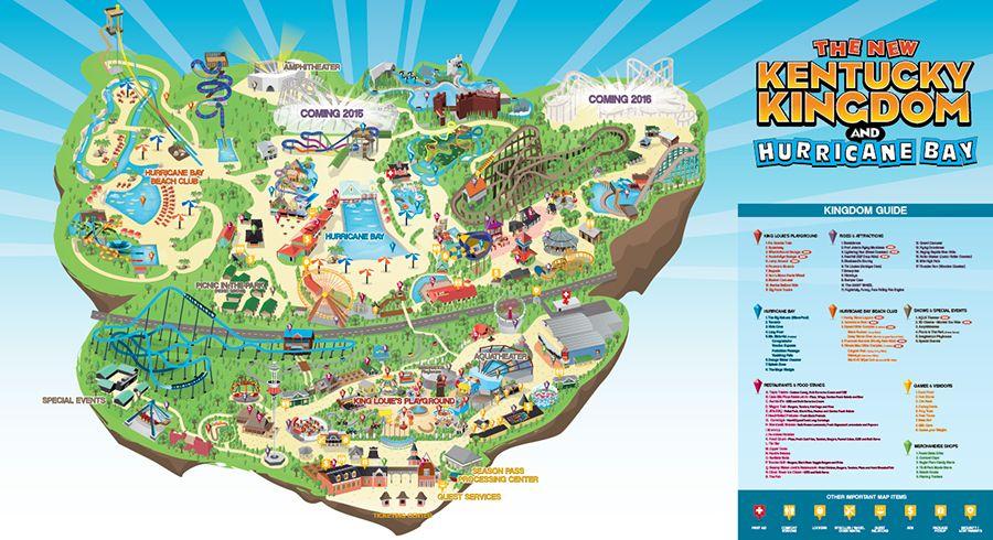 Kentucky Kingdom Park Map on Behance | vacation | Pinterest ...