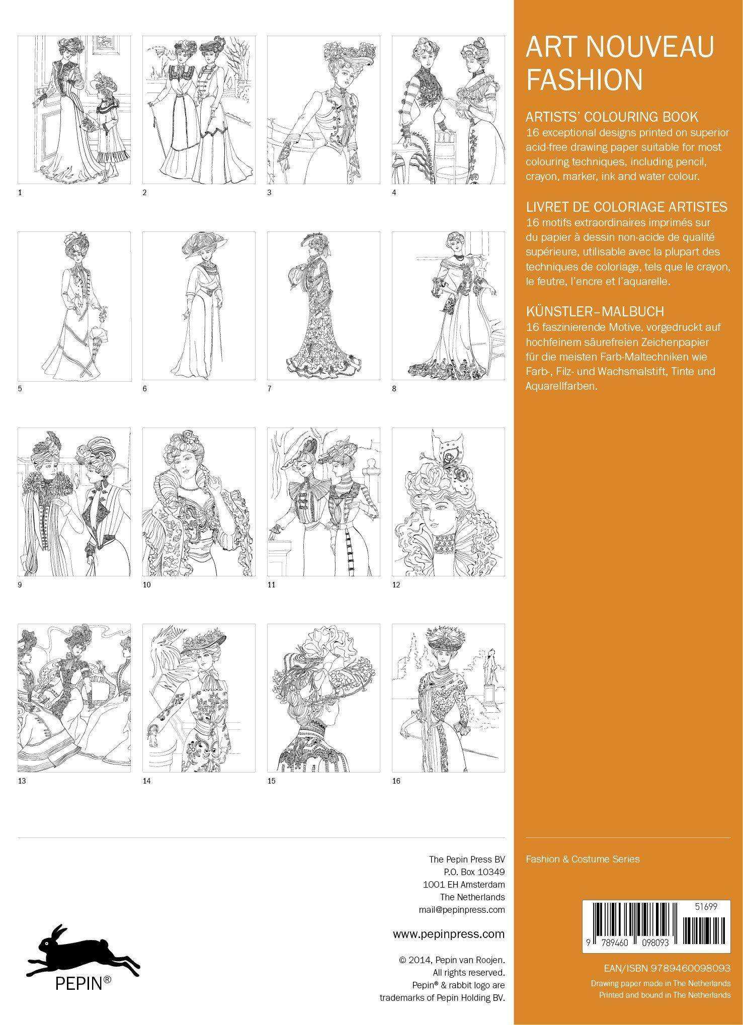 Colour book art - Artists Colouring Book Art Nouveau Fashion 9789460098093 Amazon Com Books