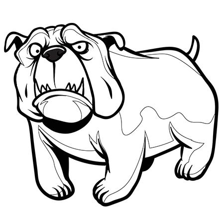 Dessin chien bouledogue a colorier dessin colorier et - Coloriage de chien ...