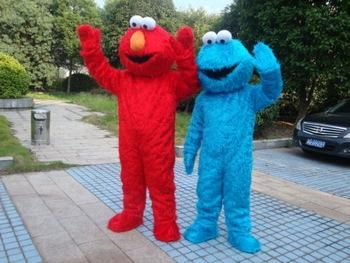 Adult size Cookie monster mascot costumes for sale adult elmo mascot costume Free shipping elmo mascot & Adult size Cookie monster mascot costumes for sale adult elmo mascot ...