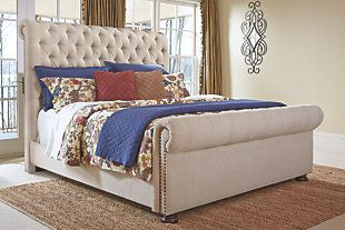 Windville Queen Upholstered Sleigh Bed Home Diy