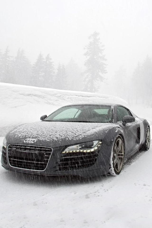 Audi R8 In Snow Iphone 4s Wallpaper Download Iphone Wallpapers Ipad Wallpapers One Stop Download Audi Luxury Cars Super Luxury Cars