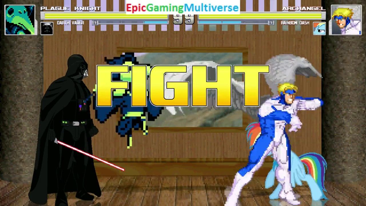 Rainbow Dash And --------- VS Plague Knight And Darth Vader In A MUGEN Match / Battle / Fight: https://t.co/1akmoLX8Dc via @YouTube