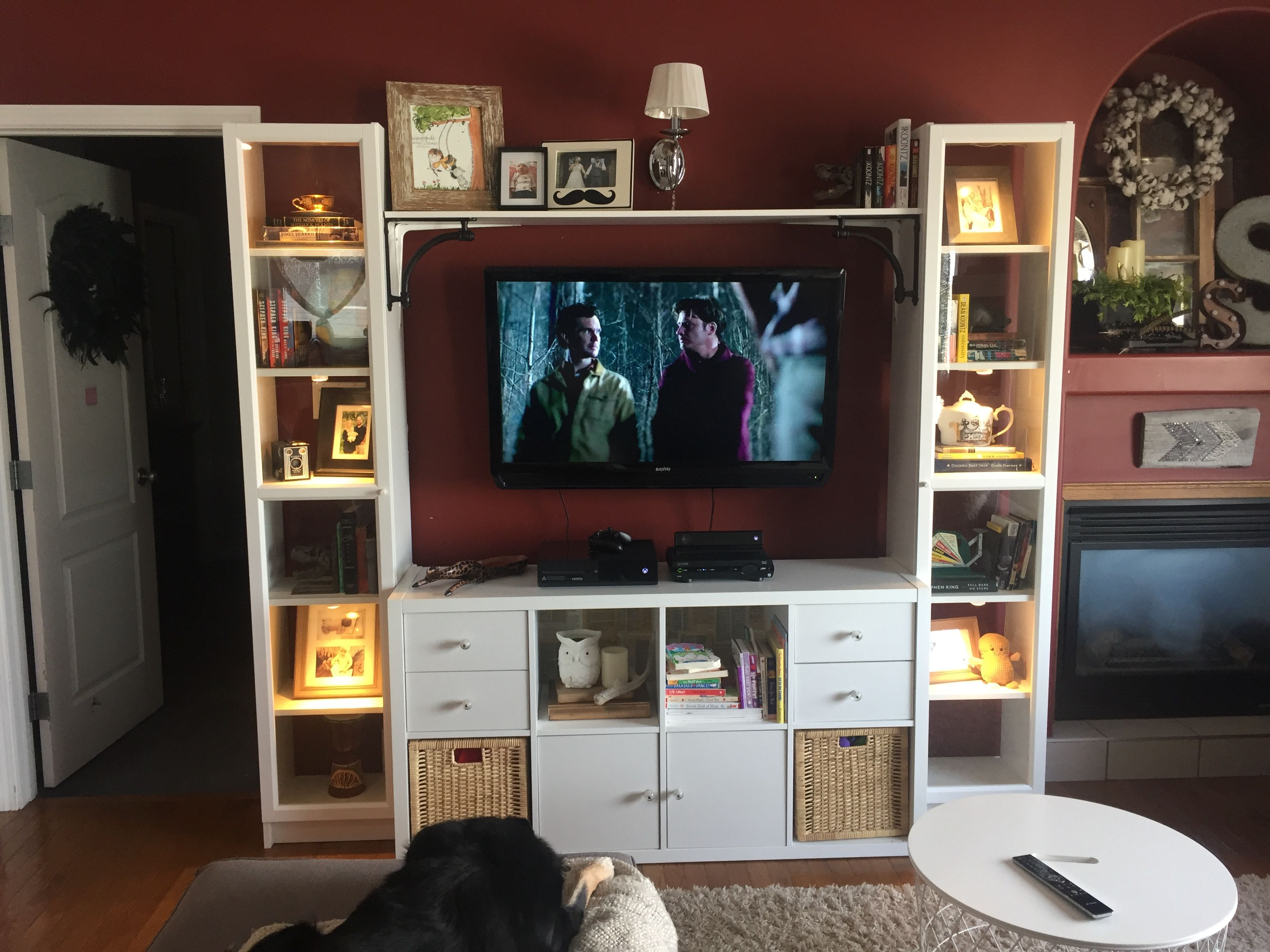 Ikea Hack Entertainment Unit 2 Billy Bookcases A Kallax Shelf