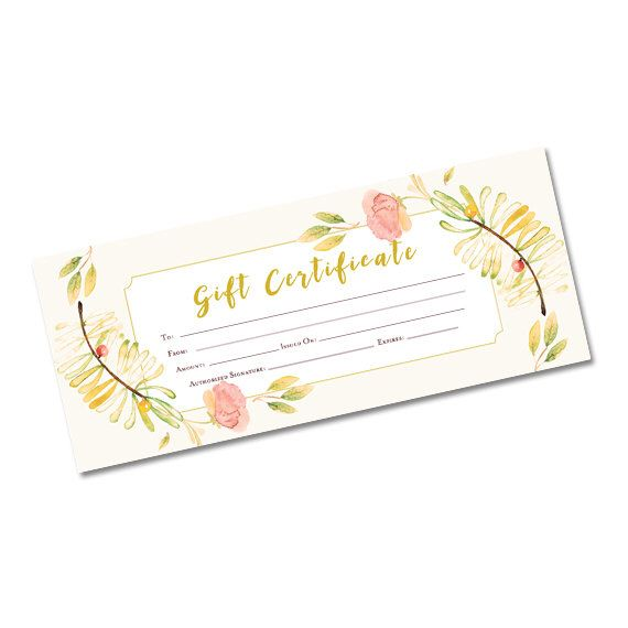 Spring flower gift certificate floral blank gift certificate gift spring flower gift certificate floral blank gift certificate gift certificate template printable blank gift certificate garden by cafeink on yadclub Image collections