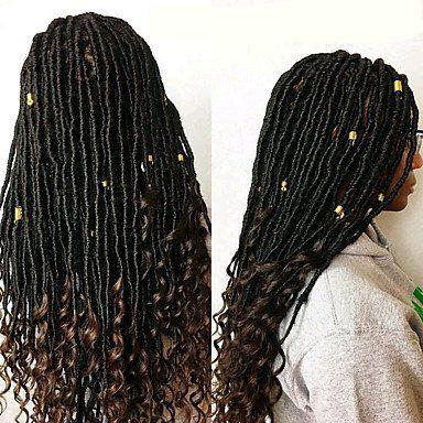 GANTA 1 Pack Faux Locs With Curly End Crochet Braids Kanekalon Hair Extensions African Braiding
