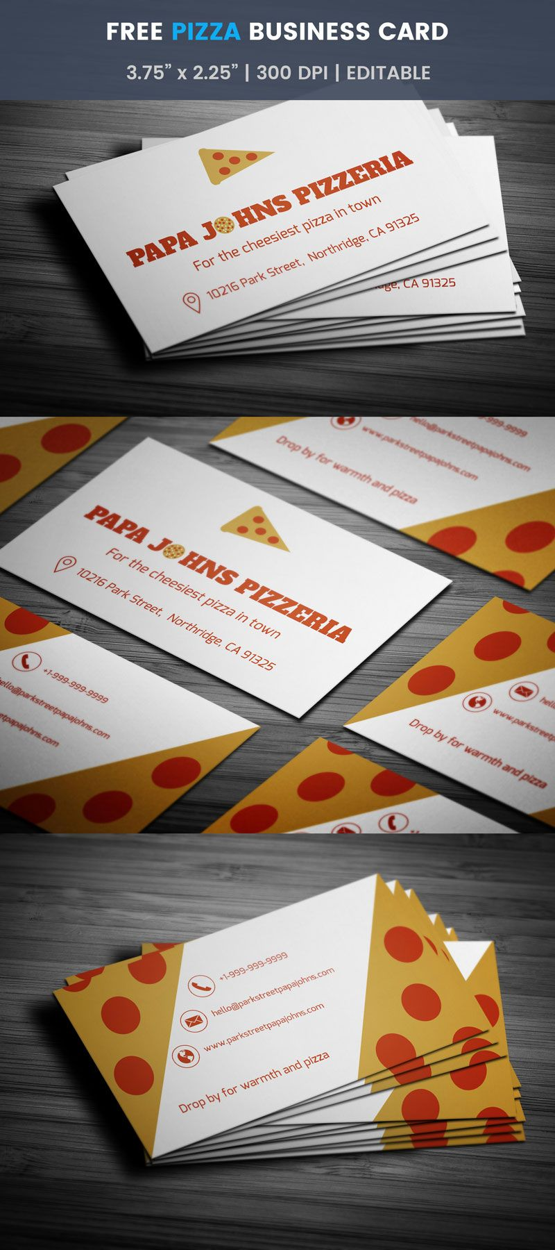 Pizza Business Card - Full Preview | Free Business Card Templates ...