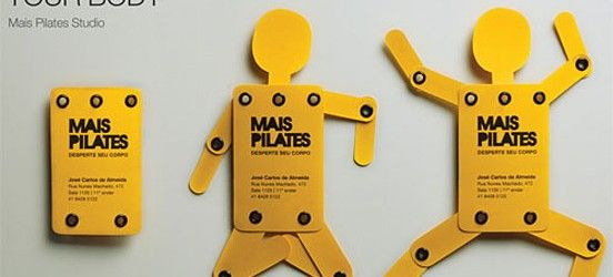 Diseñofilia Inspiration Creative Business Cards for a pilates - tarjetas creativas