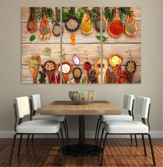 Restaurant Decor Kitchen Dining Room Decor Extra Large Wall Art Split Canvas In 2020 Restaurant Decor Mexican Restaurant Decor Mexican Dining Room