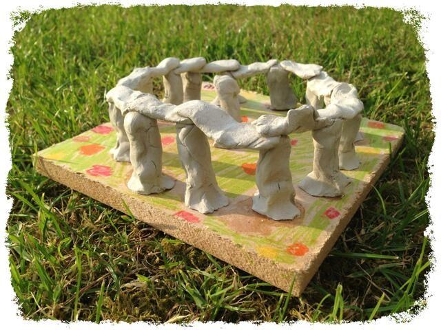 Clay model Stonehenge | Stone age art, Stone age display ...