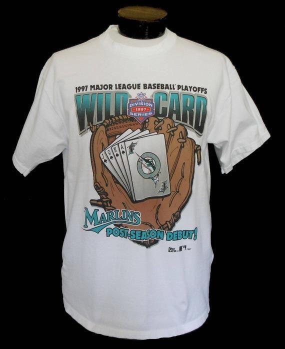 489f06cdbdb Vintage 90s Florida Marlins T-shirt