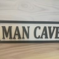 The perfect sign for your Man Cave make a great gift for the men in your life #mancave #shedsign #streetsign #claireyfairymakes