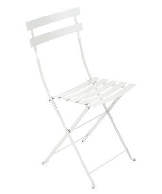 Chaise Pliante Bistro Fermob Blanc Made In Design Chaise Pliante Chaise Metal Chaise Fauteuil