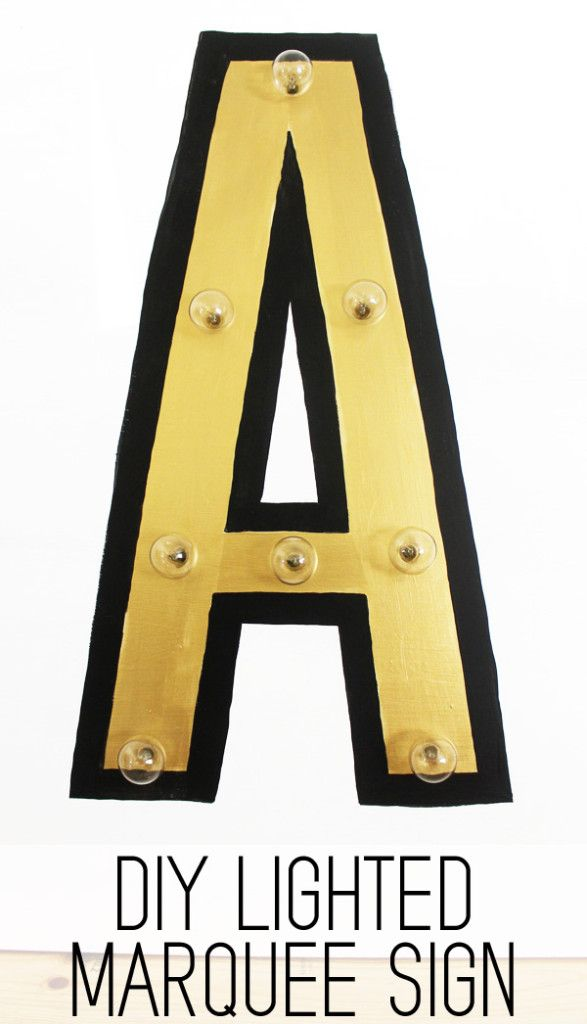 How to make a custom lighted marquee sign