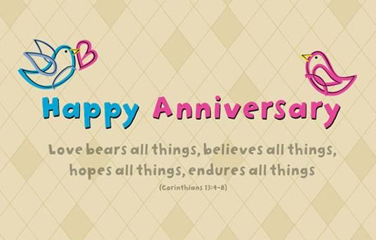 First wedding anniversary christian quotes