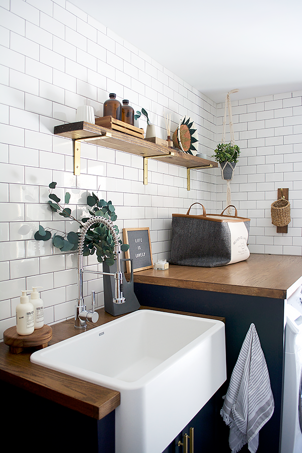 Modern Navy Laundry Room Refresh images