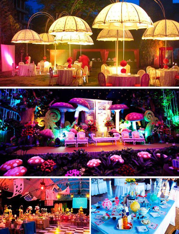 Sal n de fiesta y decoraci n 1 fiestas tematicas de 15 for Decoracion xv anos alicia pais maravillas