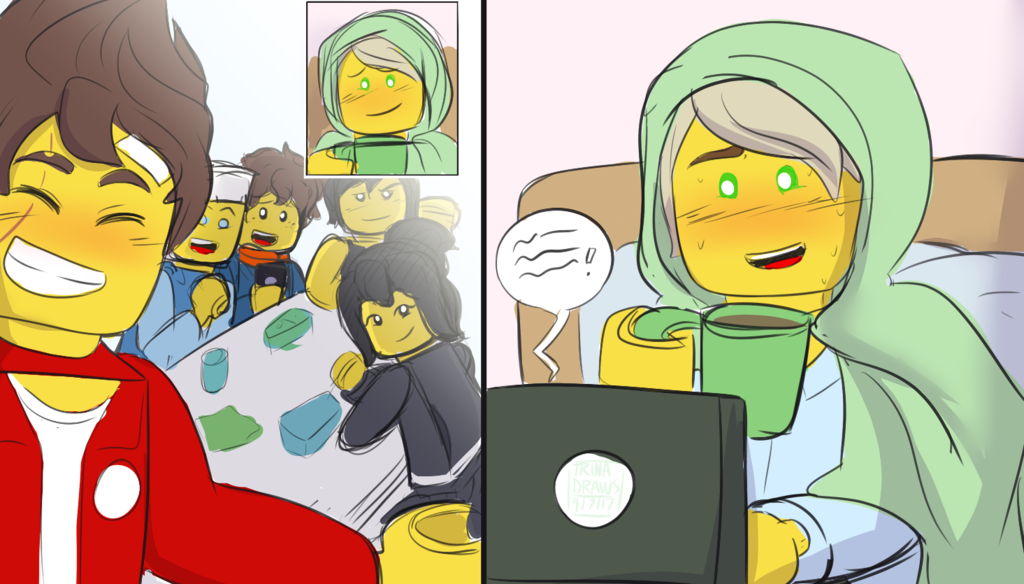 Countdown2ninjago day 8 hanging out by trina draws ninjago lego ninjago movie lego - Ninjago lloyd and kai ...