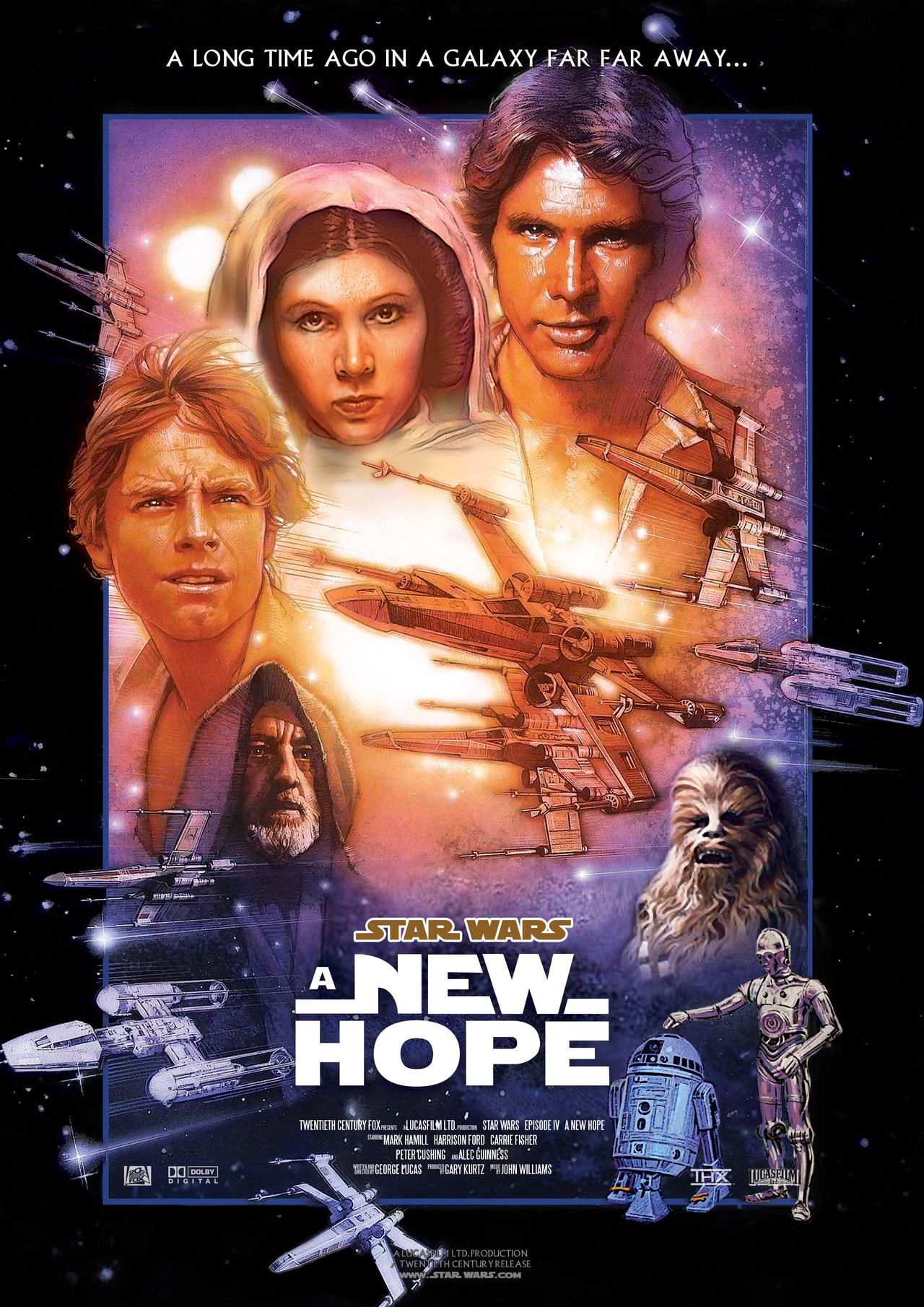 Star Wars Episode Iv A New Hope 1977 Star Wars Movies Posters Star Wars Episode 4 Star Wars Episode Iv