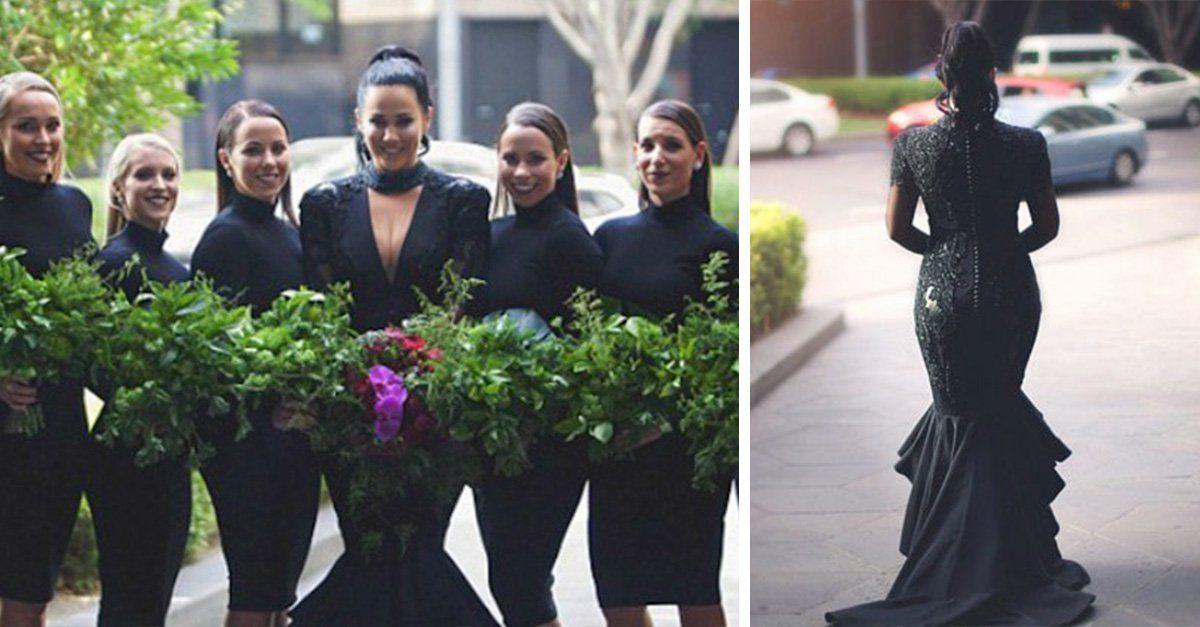 Boda de dia y vestido negro