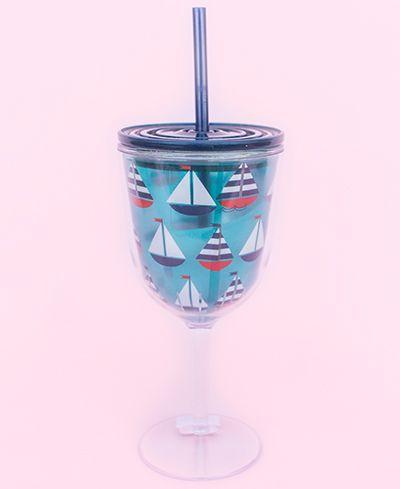 Sailboat Wine Tumbler
