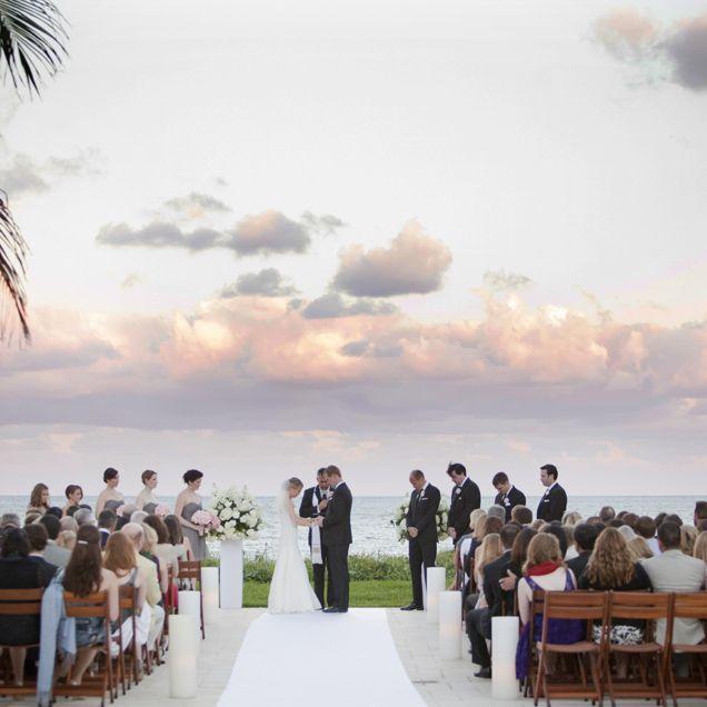 A Stunning Pastel Sunset At Dewey Seasons Resort Palm Beach Wedding
