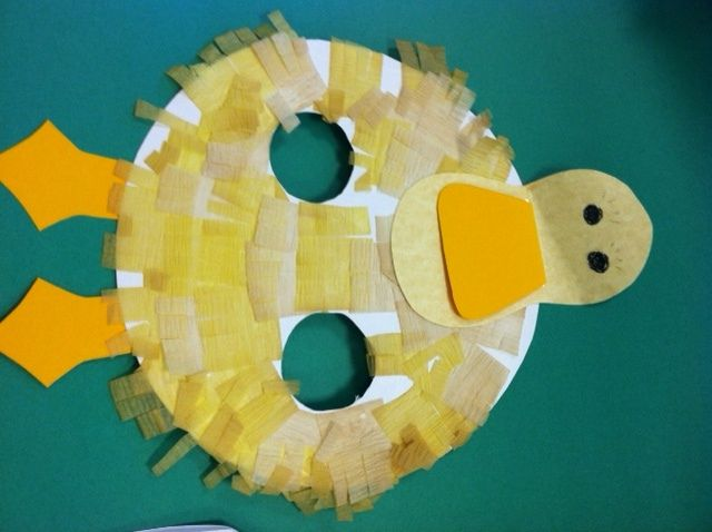 D is for Duck | Paper plate crafts, Crepe paper and Tissue paper