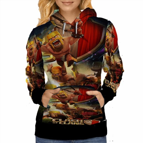 69.99$  Buy now - http://vizqu.justgood.pw/vig/item.php?t=wl7e7e33466 - Clash of Clans Hoodie For Women Size S