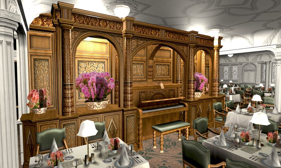 Built For The Titanic Mod Game Mafia Room Modeled By Myself Textured Source Image Dining Saloon I