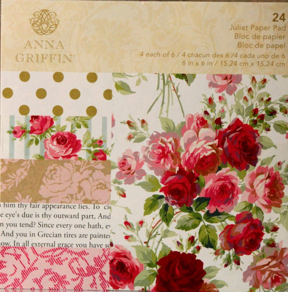 Anna Griffin Juliet 6x6 Scrapbook Paper Pad Is Available At Scrapbookfare.