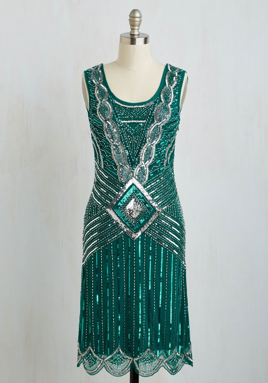Hell Bunny Fab Fringe Long Sleeve Dress | Cabaret, Emeralds and ModCloth