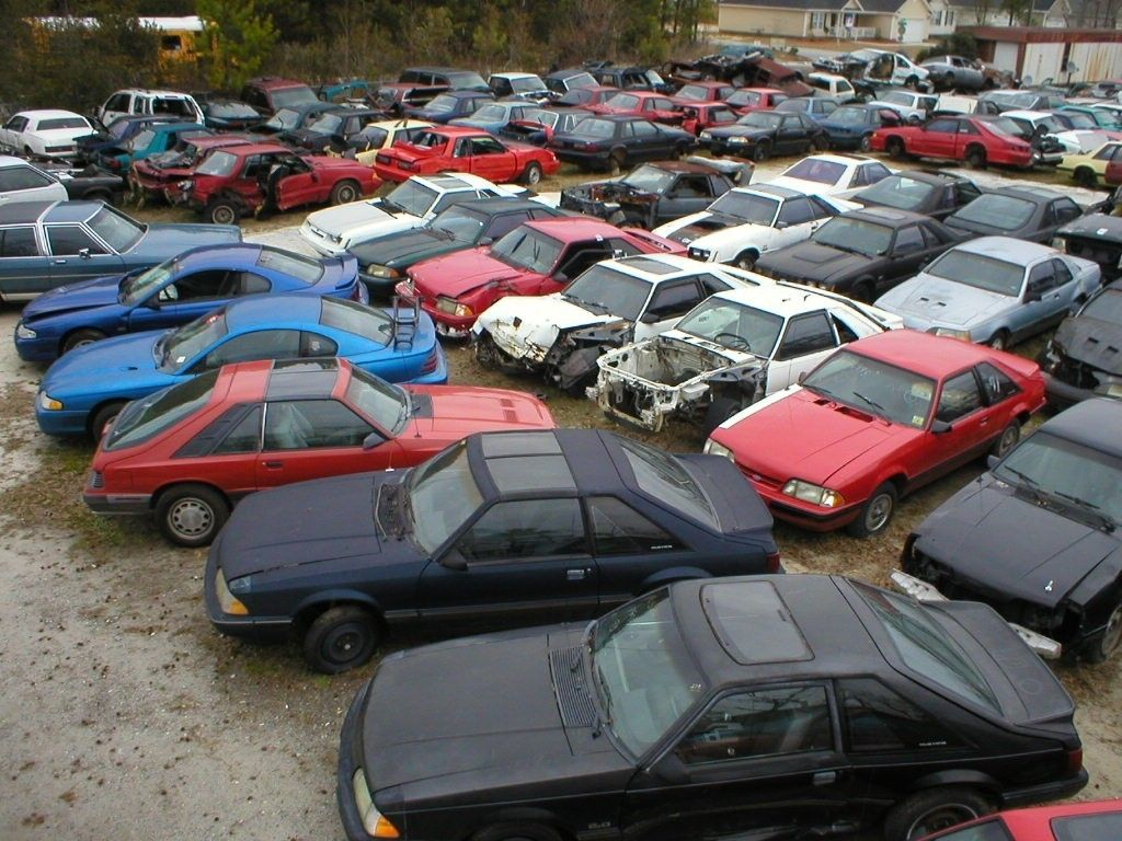 Pin by guru on Car Wreckers Scrap car, Fox body mustang, Car