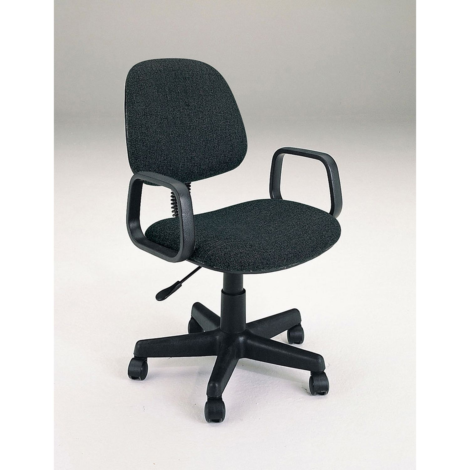 Mandy Black Fabric Office Chair With Pneumatic Lift Black Office