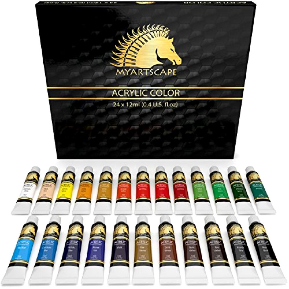 Acrylic Paint Set 24 X 12ml Art Paints Artist Paint Set Paint