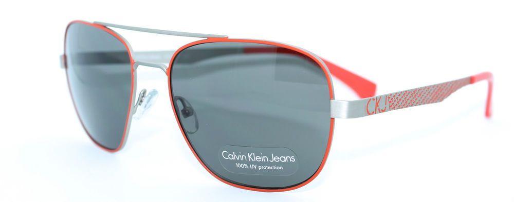 CALVIN KLEIN JEANS CKJ105S 800 57/17 New ORANGE Authentic WOMEN MENS SUNGLASSES  #CalvinKlein #Designer